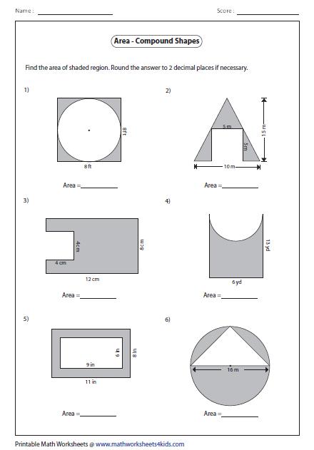 Area Of Composite Figures Vocabulary Practice Common Core
