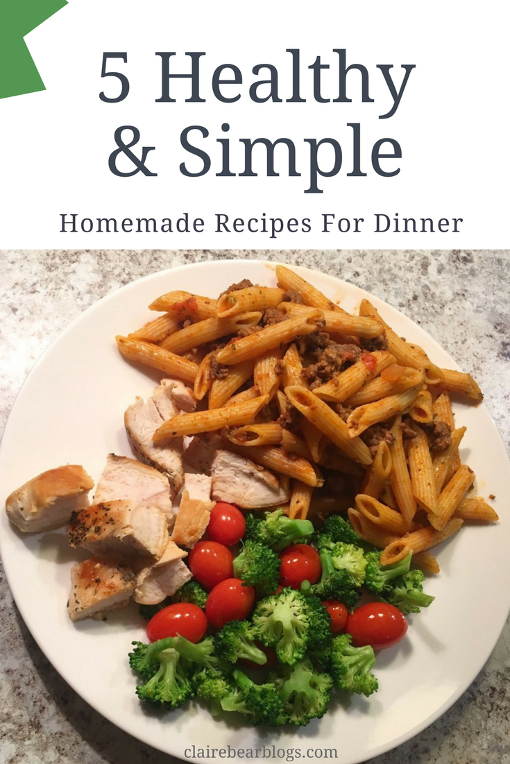 5 Healthy Quick Dinner Recipes Clairebear Quick Healthy Dinner Quick Dinner Recipes Healthy Easy Chicken Dinner Recipes