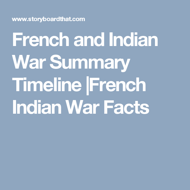 The French And Indian War War Teacher Guides French