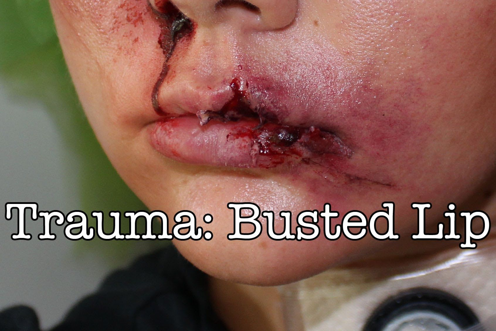 Trauma: Busted Lip   Halloween Costumes   Makeup course ...