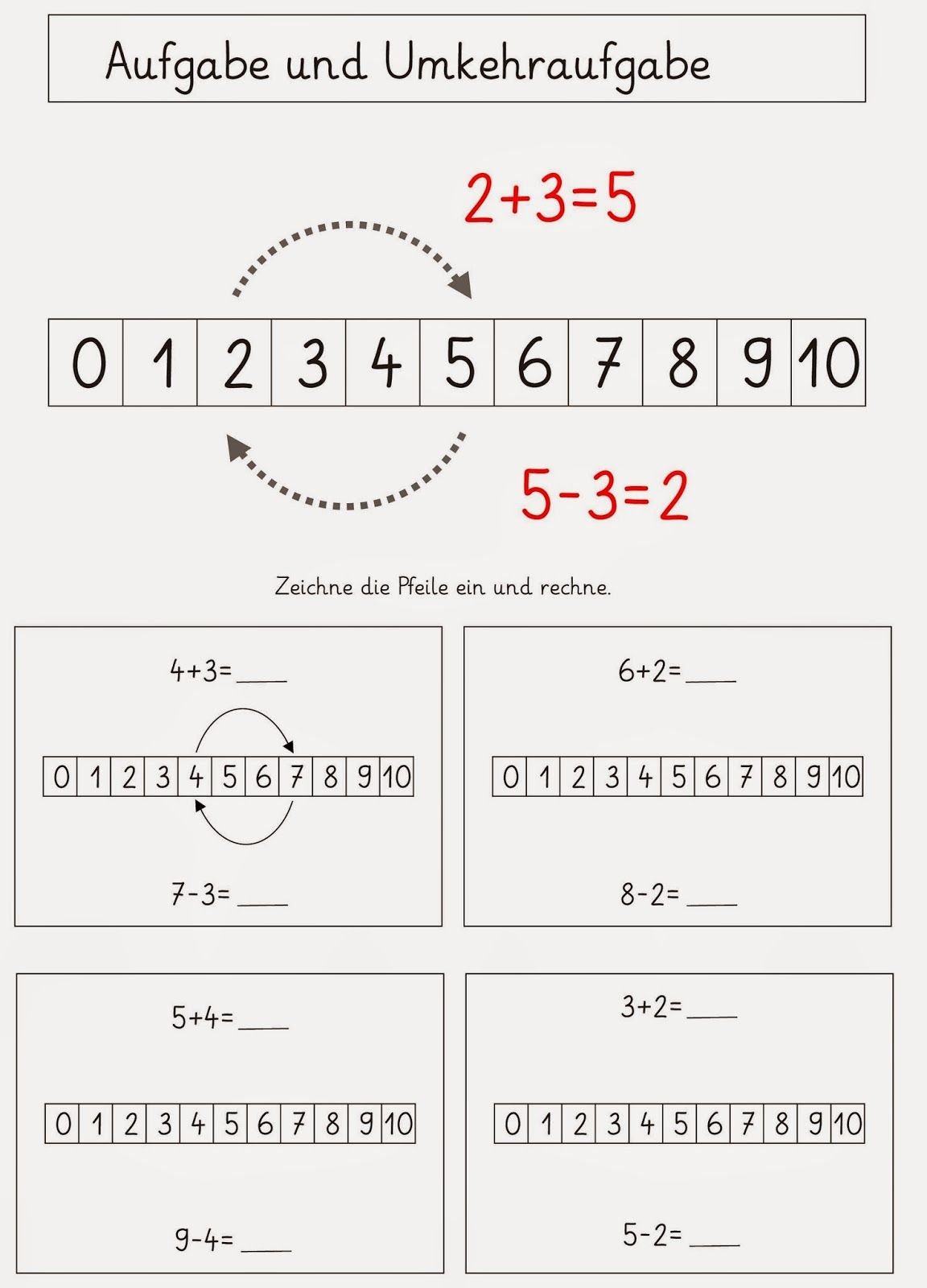 Lernstübchen: MA 1 Umkehraufgaben | VS-Material Mathematik ...