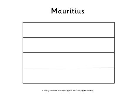 Mauritius Flag Colouring Page Flag Coloring Pages Mauritius