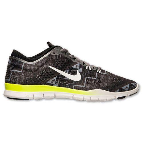 46853ab7a40f7 Nike Free 5.0 TR FIT 4 Print Womens Training Shoes 9.5 Black Ivory 629832  008  Nike  RunningCrossTraining