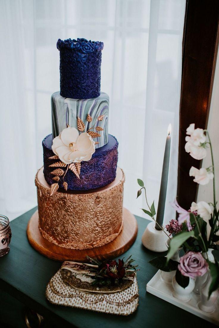 Modern gold and purple wedding cake weddingcakes personal board