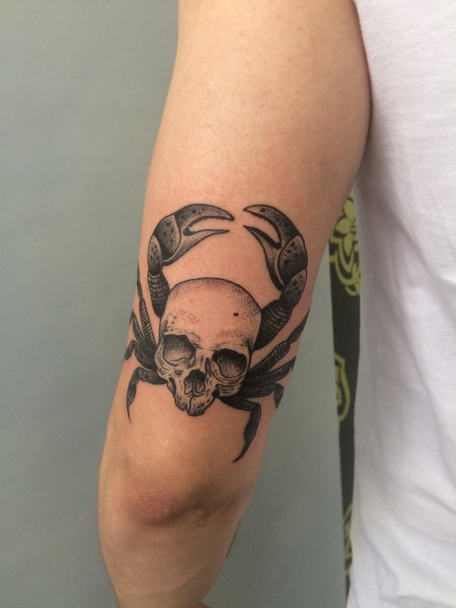 Skull Crab By Klaudia Holda 9th Circle Tattoo Krakow Poland