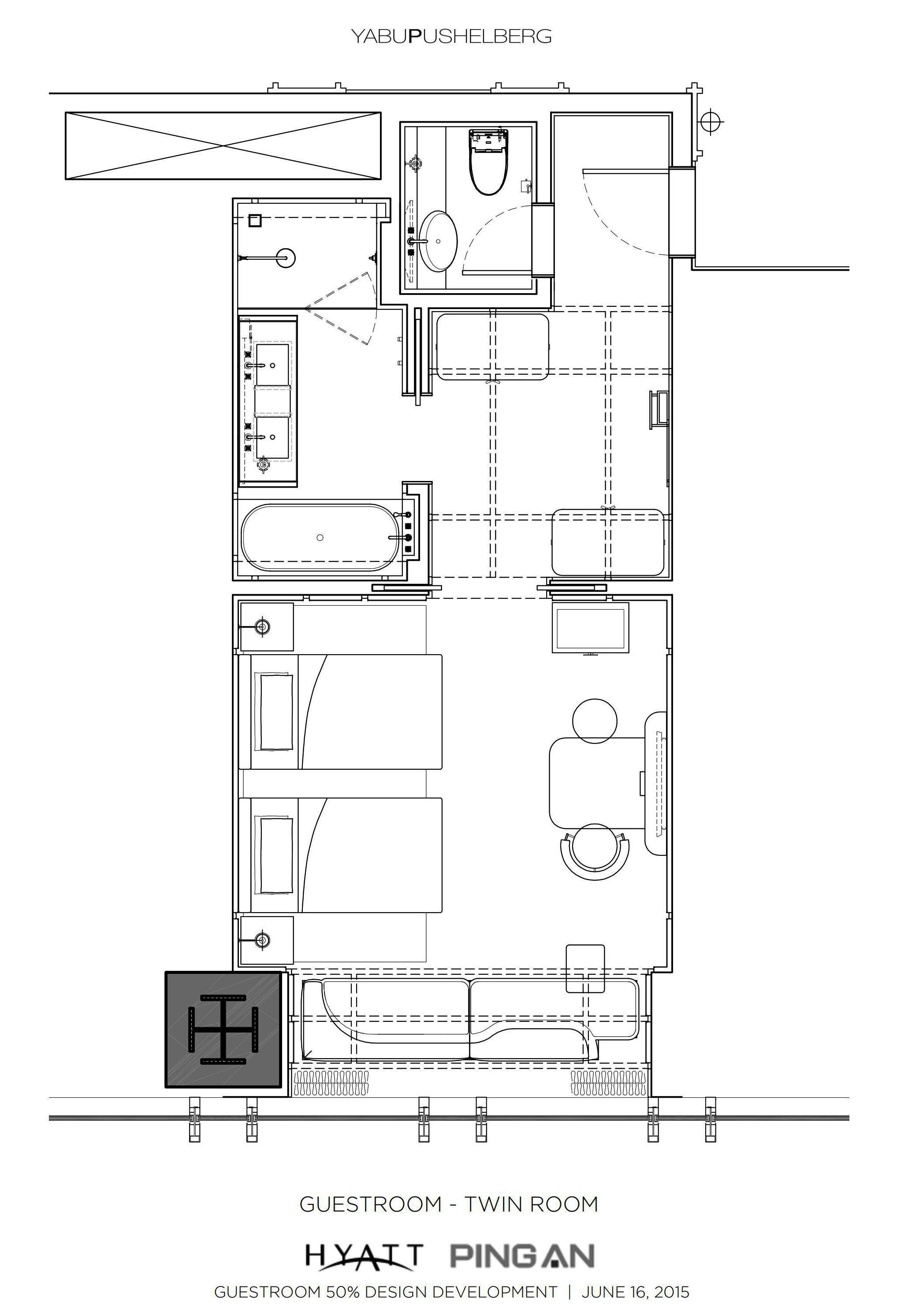 Re Park Hyatt Shenzhen Twin Guest Room Hotel Floor Plan Hotel Plan Hotel Floor