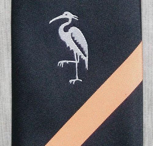 Pelican / Heron Orange & Black Striped Skinny by TheScreamingApple