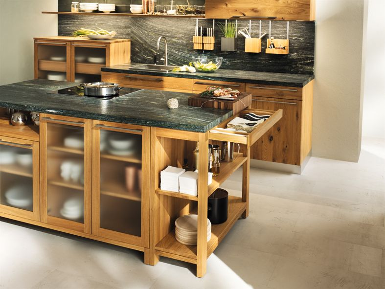 In our opinion, a kitchen can never contain too much wood \u2013 when it - küchen team 7
