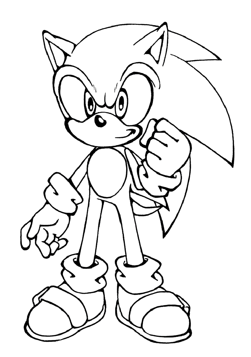 Printable Sonic The Hedgehog Coloring For Kids Educative Printable Hedgehog Colors Cartoon Coloring Pages Coloring Pages