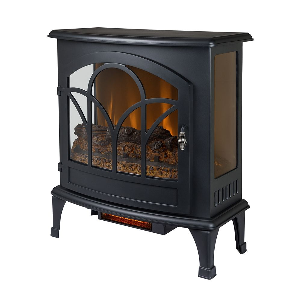 Muskoka Curved Front 28 32 In X 25 In Black Panoramic Stove