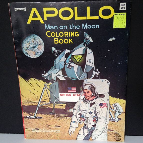 1969 Apollo Man on the Moon Coloring Book  by LagunaVintage