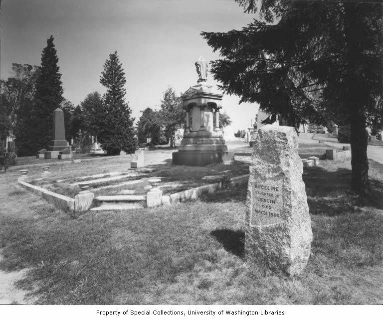 Haunted Places In Whittier California: Princess Angeline's Grave Marker, Lake View Cemetery