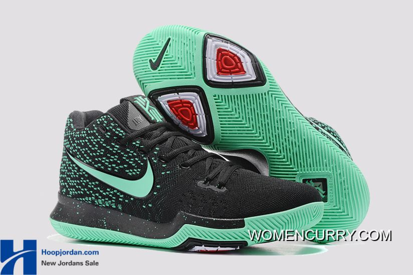 845ede21422 Nike Kyrie 3 Green Black PE Men s Basketball Shoes Cheap To Buy in ...