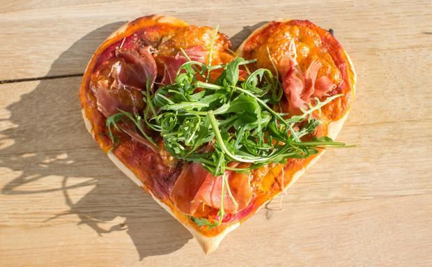 Pizza zum valentinstag