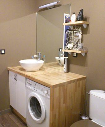 plan vasque en hêtre abouté Salle de bains Pinterest Laundry