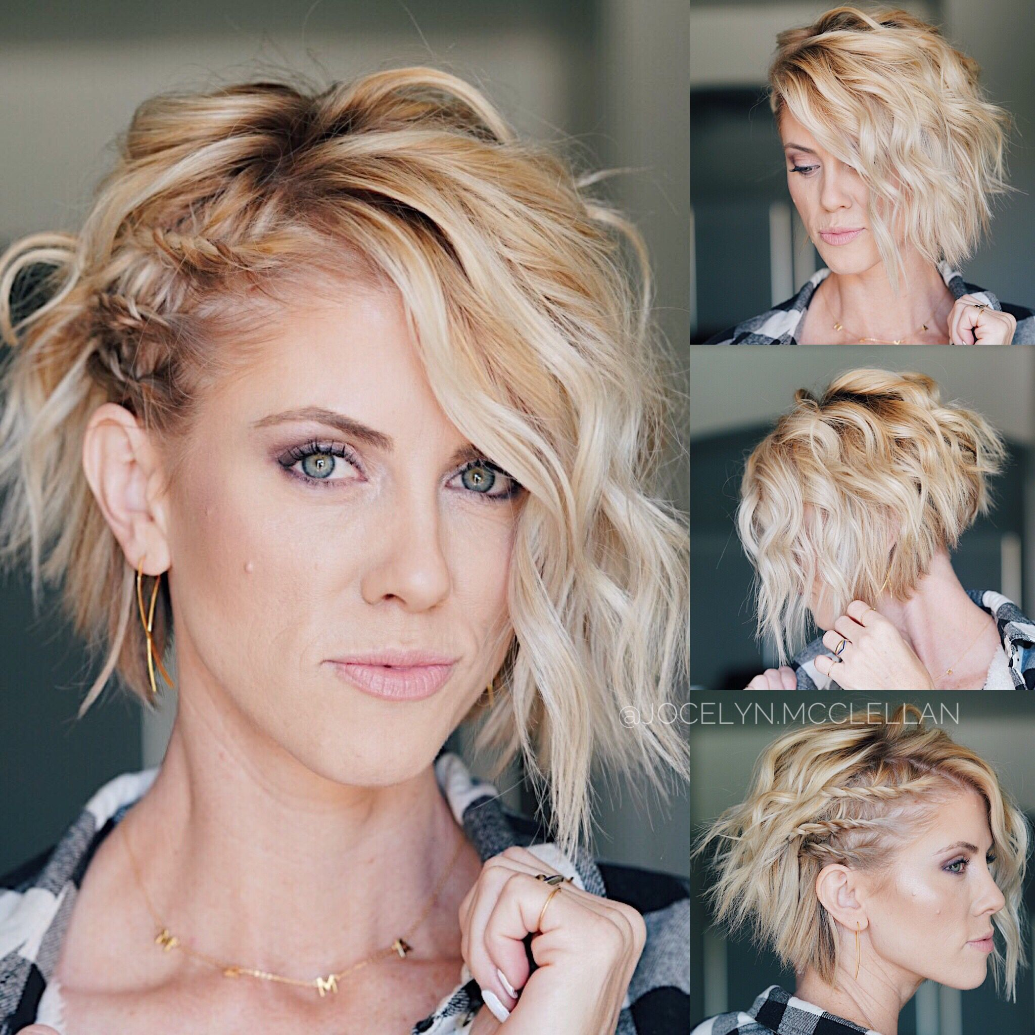 Twist And Curl For Some Added Sass Short Hair Styles How To Curl Short Hair Hair Styles