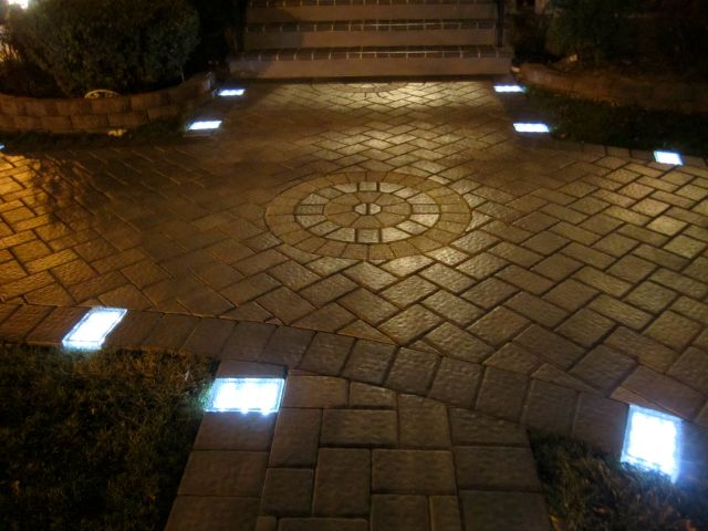 Solar Brick Paver Getdatgadget Paver Lights Brick Pavers Driveway Lighting