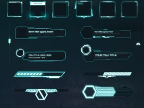 Sci-Fi UI Components Pack
