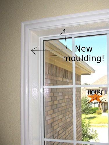 Trimming Out Windows Diy Molding Fake Window Molding Around Windows
