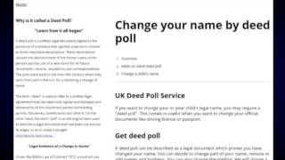Pin by hainshelins on Who Can Change a Childs Name By Deed Poll ...