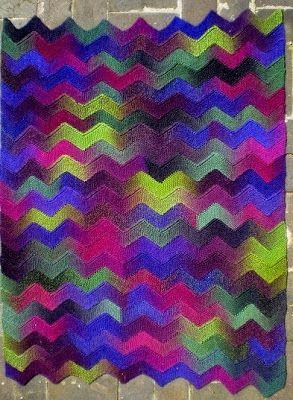 Ten Stitch Zigzag - free knitting Pattern | Blanket ...