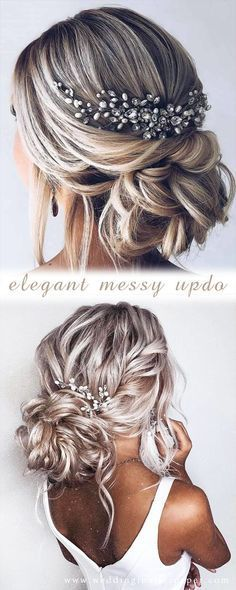 42 Gorgeous Wedding Hairstyles---elegant updo hairstyle with gorgeous headpices ... -     42 Gorgeou