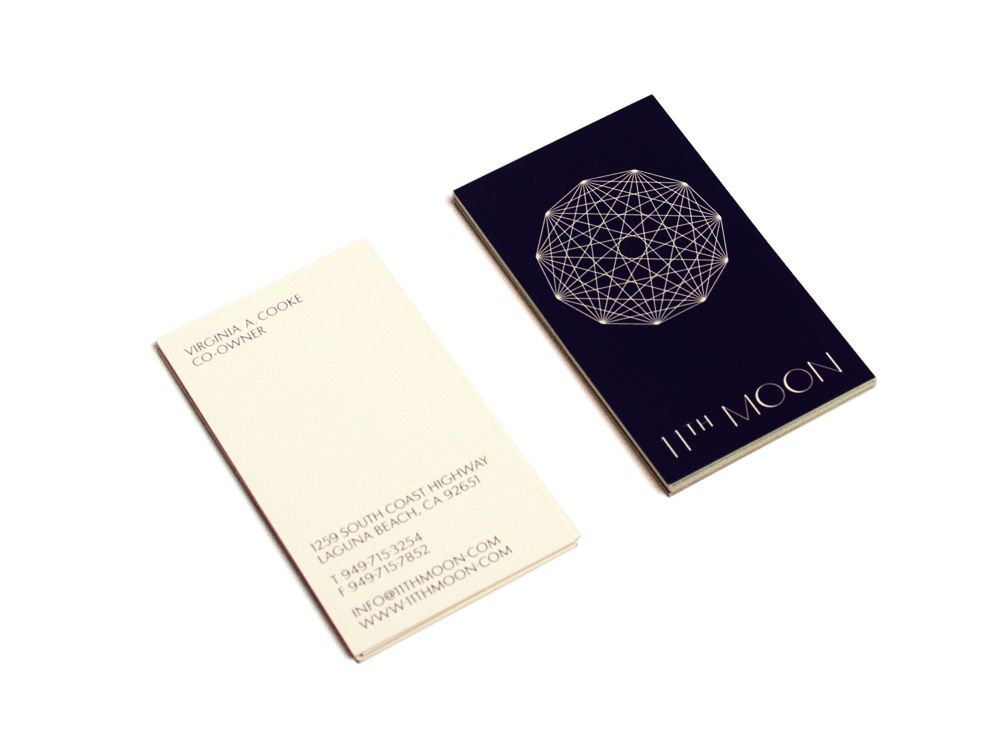 11th Moon Business Card Design Inspiration Card Nerd Cards