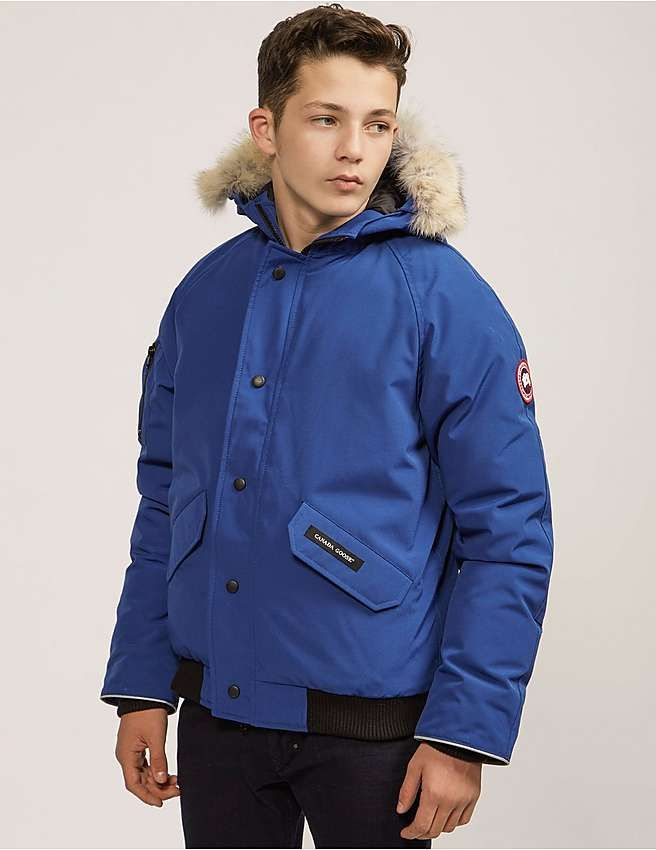 ea45e12df0c2 blue Canada Goose Youth Rundle Jacket