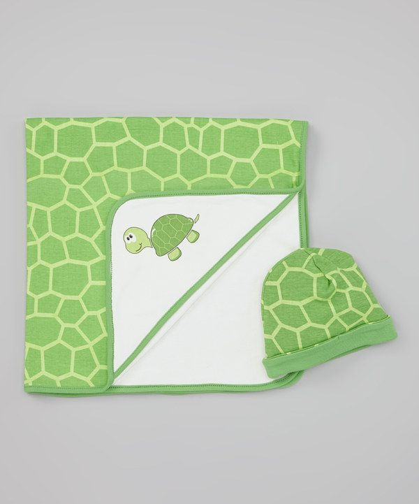 Take a look at this Green Turtle Stroller Blanket & Beanie on zulily today!