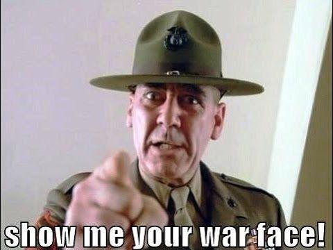 Show Me Your Rosario War Face Glrosario Full Metal Jacket Funny Movies Movies