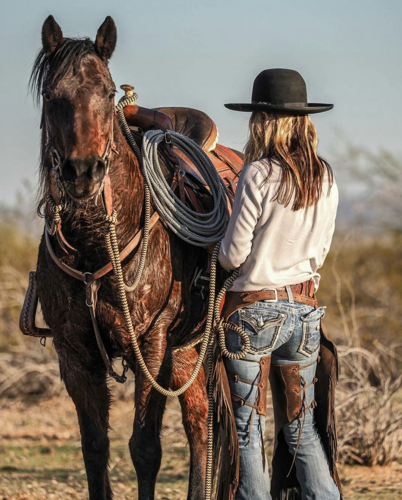 How to ride cowgirl style
