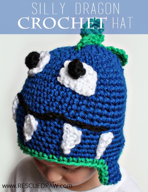 Crochet Dragon Hat Free Pattern From Rescuedpaw Hooked On The