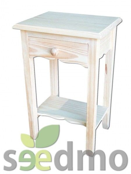 Muebles y decoraci n mesita auxiliar de un cajon por tan for Compra de muebles por internet
