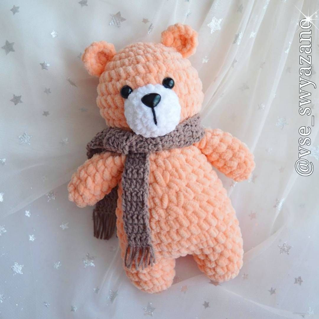 Free Amigurumi Bear Toy Softies Crochet Patterns #bearplushtoy