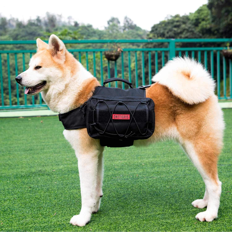 OneTigris Dog Pack Hound Travel Camping Hiking Backpack Saddle Bag Rucksack for Medium /& Large Dog