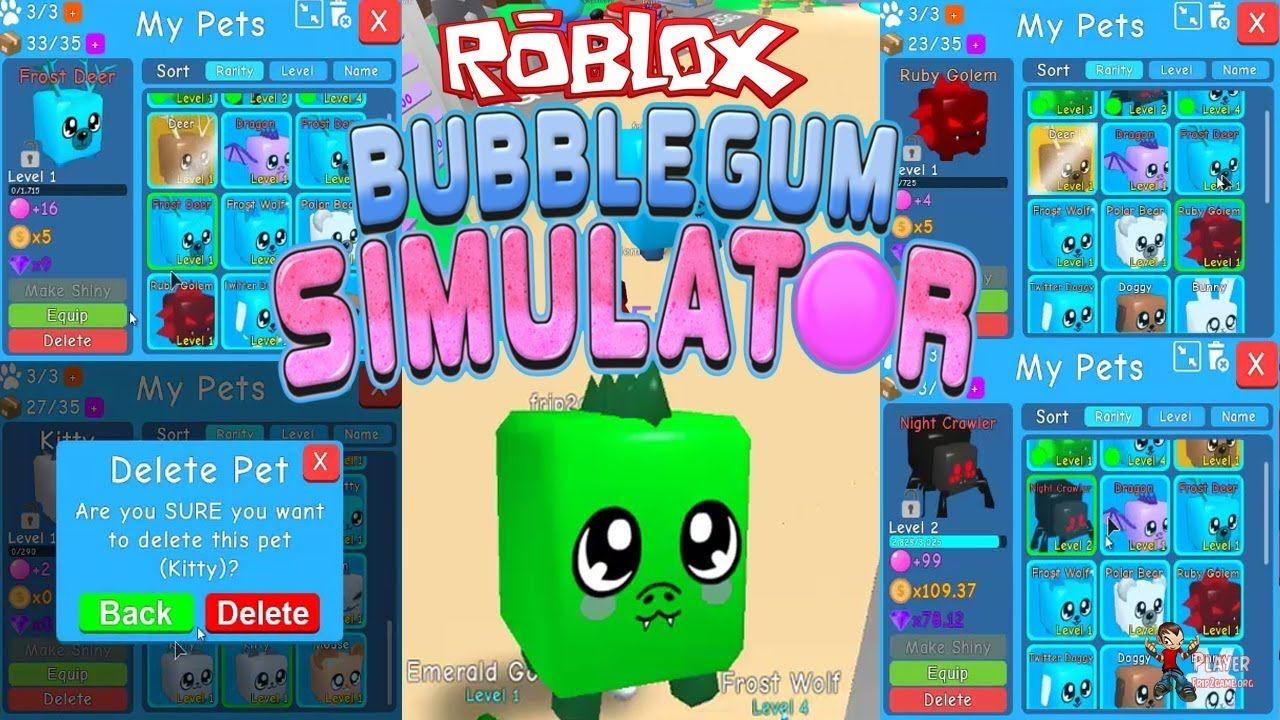 BUBBLEGUM SIMULATOR ROBLOX - Open/Delete New Pets By