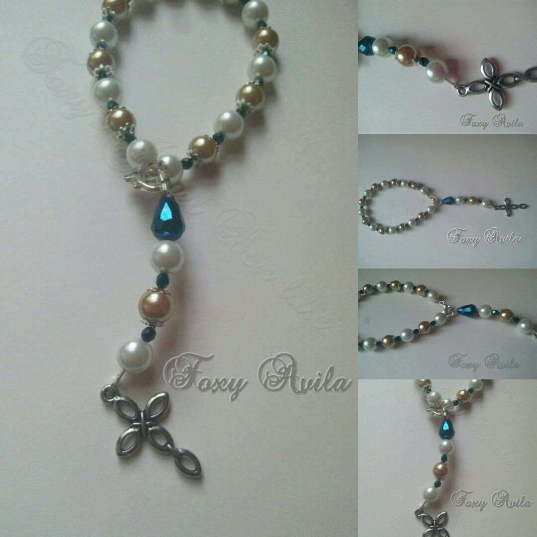 Rosary bracelet by foxyus jewel box llc like us on facebook and