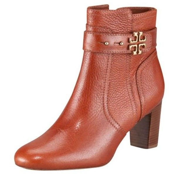 Pre-Owned Tory Burch Elina Logo Ankle Booties Size 5 Pine Red ...
