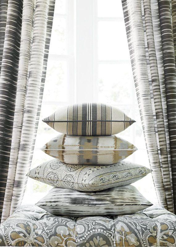 Blue Ikat Curtains Thibaut Charcoal Curtain Panels And White D Shibori Curta