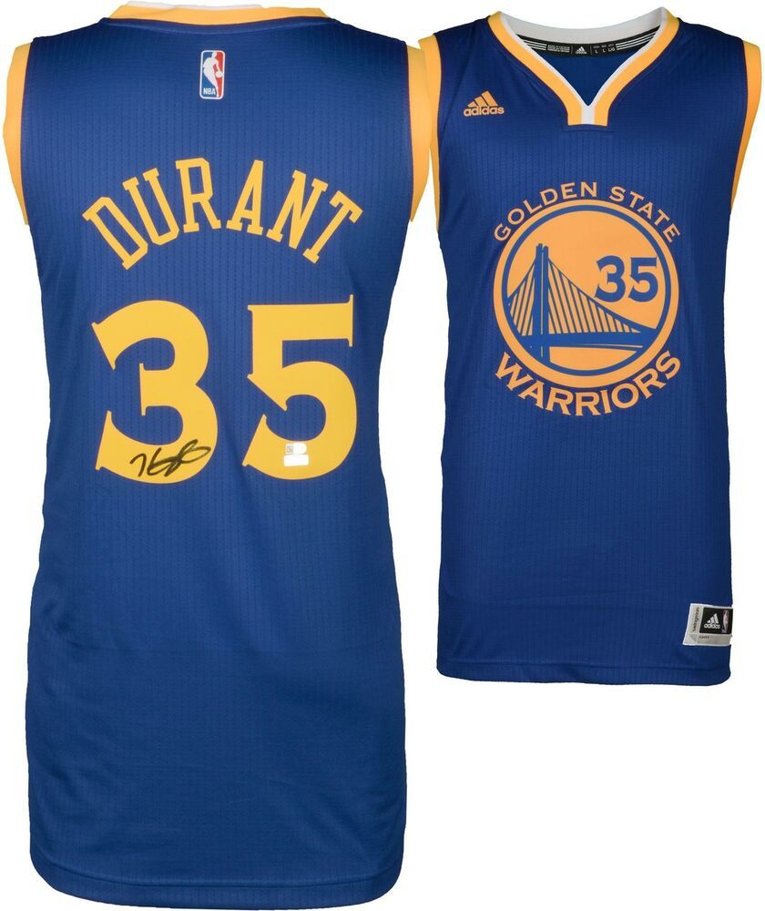 the latest 03e91 41df3 Kevin Durant Golden State Warriors Signed Blue Replica ...