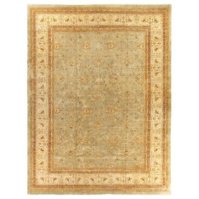 Exquisite Rugs Ziegler Hand Knotted Wool Blue Beige Area Rug Rug