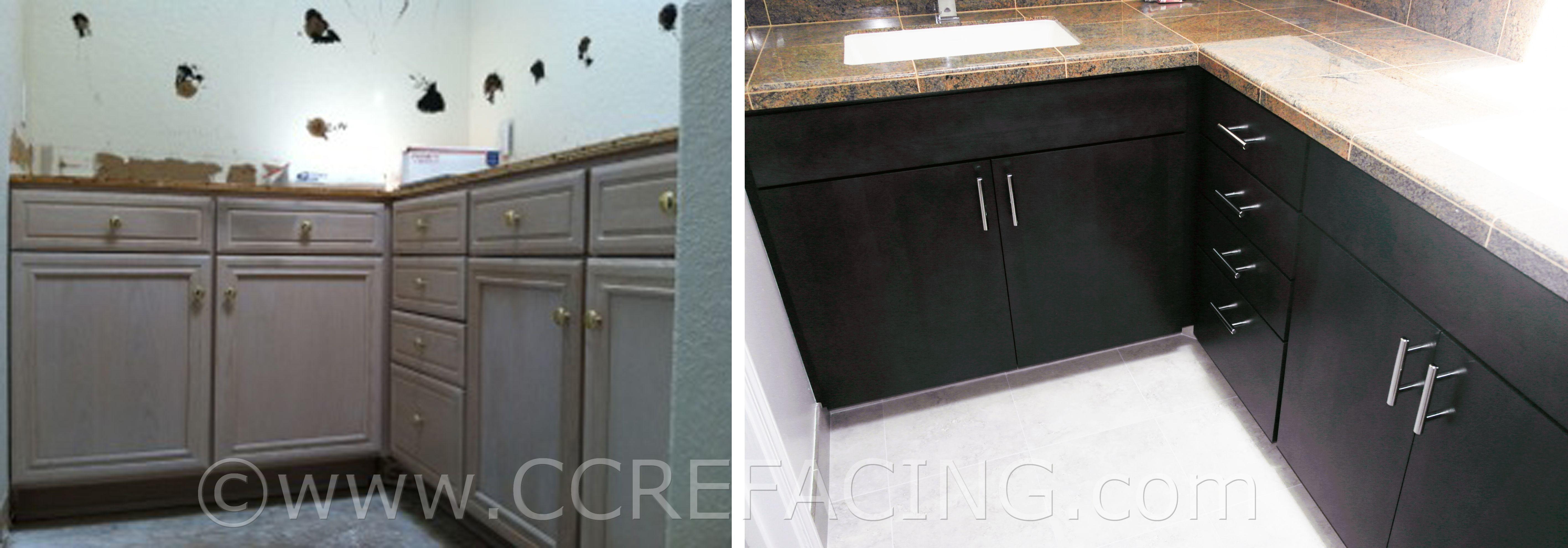 Portola Valley Cabinet Reface Refacing With Grey Maple Slab Cabinet