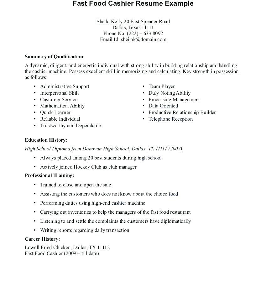 Cashier Responsibility Resume Resume Tips How To Memorize Things Resume