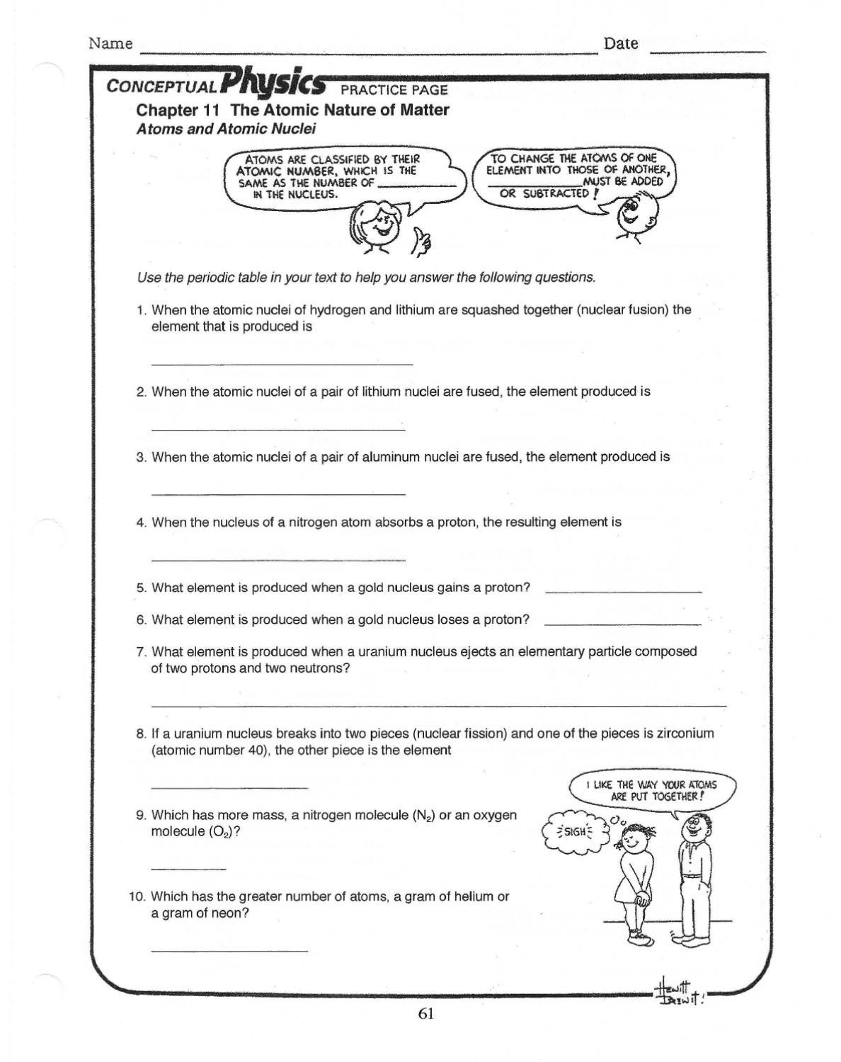 Subatomic Particles Worksheet Answers Physics Worksheet By
