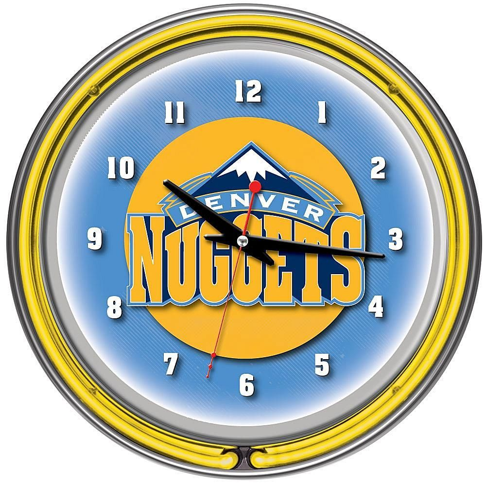 Denver Nuggets Double Ring Neon Clock | Neon clock, Double ring and ...