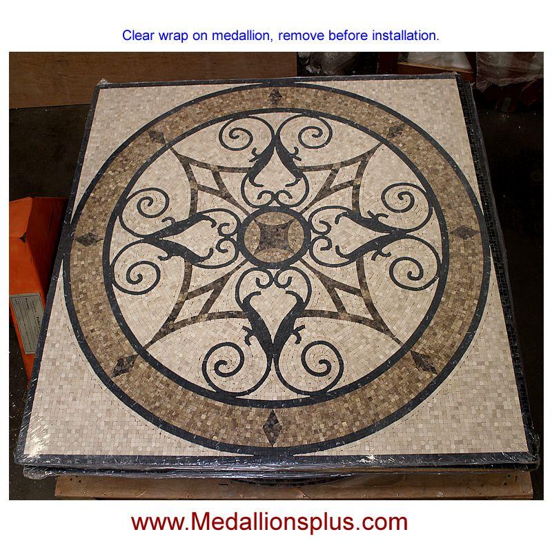 Honed Square Mosaic Medallion