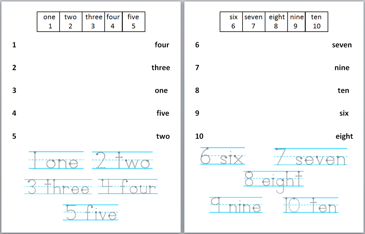 I Had A Boring Worksheet Similar To This For Number Words