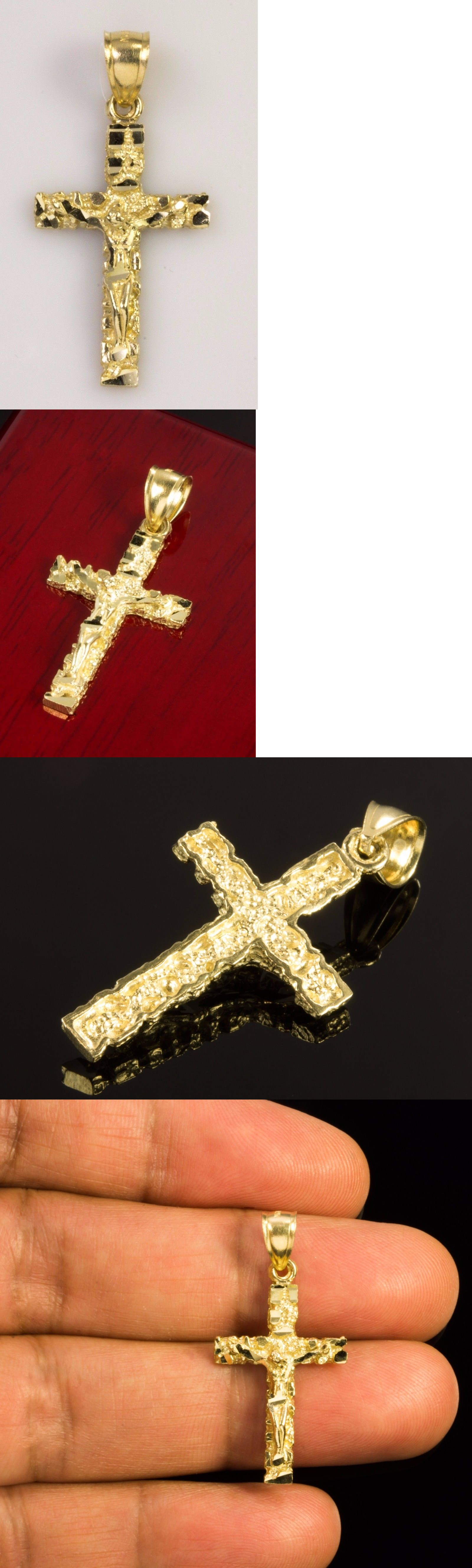 Other fine necklaces pendants real k gold nugget jesus