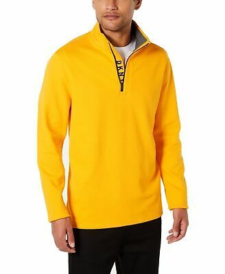 DKNY Mens Sweater Bright Marigold Yellow Size 2XL Pullover 1/2 Zip $79 #085 #fashion #clothing #shoes #accessories #men #mensclothing (ebay link)