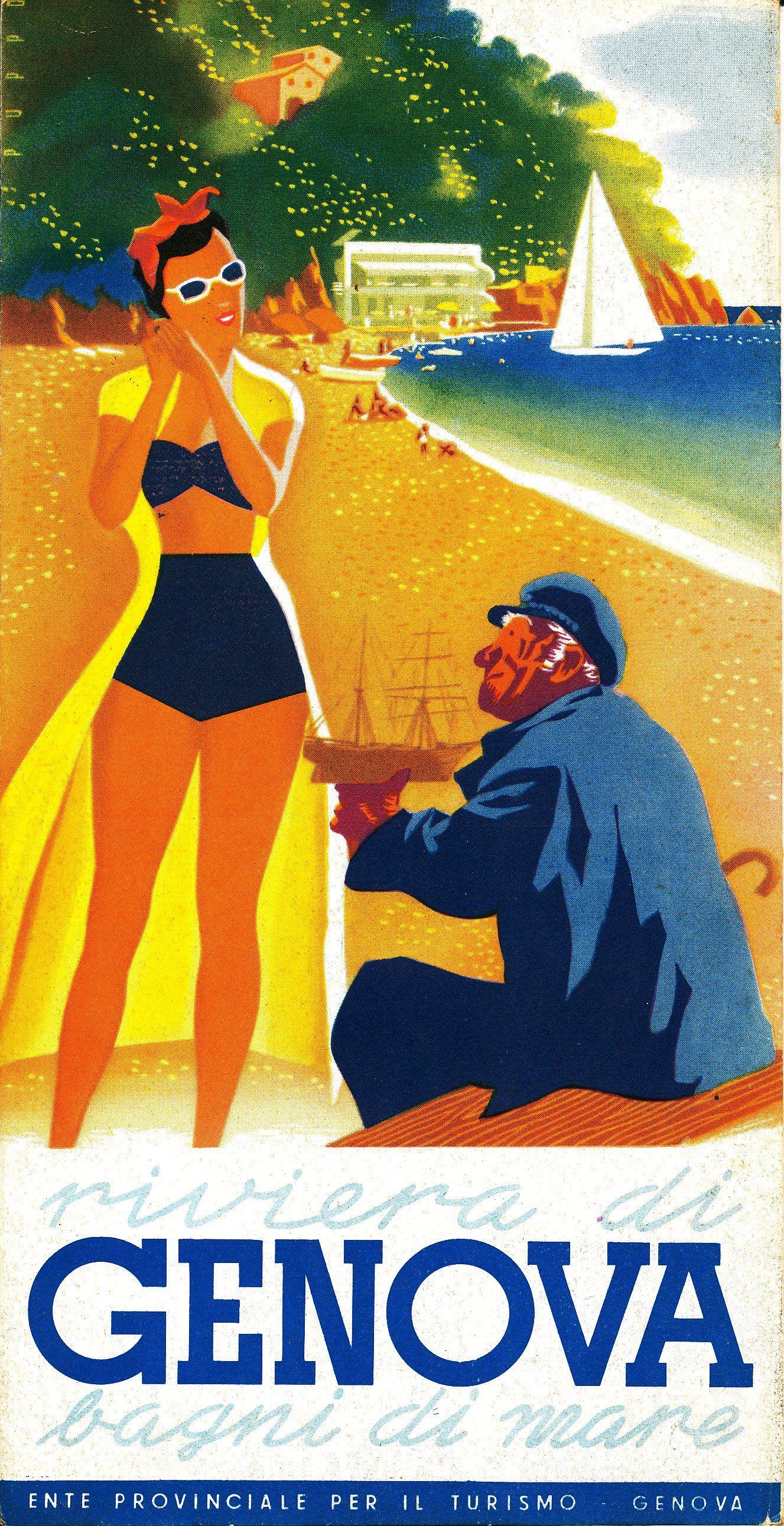 Archivio Storico Della Con Immagini Poster Di Viaggio Vintage